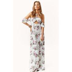 ERR NIGHT MAXI DRESS (275 AUD) ❤ liked on Polyvore featuring dresses, white maxi dress, maxi dress and white dress