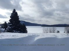 Big Wood Pond in Jackman, Maine during the Wintertime