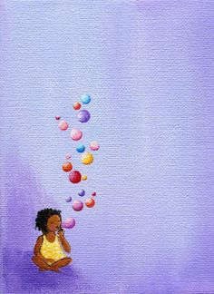 Print of Bubble Girl by edieart on Etsy