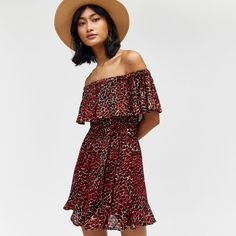 Discover new season clothes and accessories at Warehouse. Shop the latest style and trends across women's and men's fashion now. Long Summer Dresses, Summer Clothes, Summer Outfits, Animal 2, Cheetah Print, Get The Look, Warehouse, Beachwear, Cold Shoulder Dress