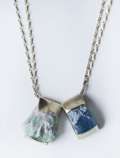 RAINBOW FLUORITE NECKLACE Handcrafted in Germany by Jean Balke, NALLIK is a word borrowed from the Inuit language that means protection and nurturing.  Found @ Cisthene.