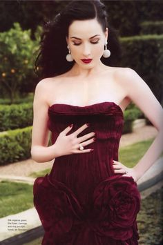 <3<3 Dita in dark red - glam!  RaeLynn DeGraffenried via Karen Cox onto L U X E