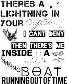 Ready to Run - One Direction - Lyrics Art
