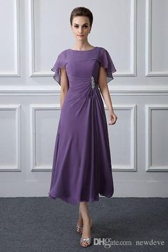 Purple Chiffon Mother Of The Bride Dresses 2019 New Elegant Pleats Beads A Line Cap Sleeve Tea Length Formal Evening Party Gowns Gold Mother Of The Bride Dress Inexpensive Mother Of The Bride Dresses From Kiss_dress, &Price; Mob Dresses, Tea Length Dresses, Plus Size Dresses, Chiffon Dresses, Petite Dresses, Elegant Dresses, Mother Of Groom Dresses, Mothers Dresses, Mother Of The Bride Dresses Tea Length