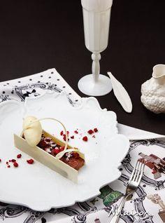 다크 초콜릿 판나코타 화이트 초콜릿 아이스크림