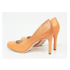 Scarpin | laranja | bico redondo | salto alto | Guilhermina Shoes