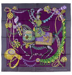 Purple hermes scarf, fashion accessories