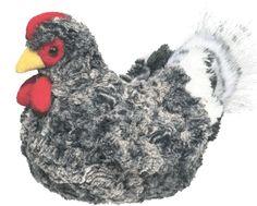 "Douglas Pepper BLACK MULTI HEN 8.5"" Plush Chicken Stuffed Bird Realistic NEW #DouglasCuddleToy"