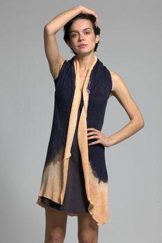 Waterfall sleeveless dip dye cardigan on Etsy, $229.00