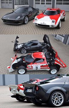 Stratos with retro Stratos in black built on chasis of a Ferrari 360