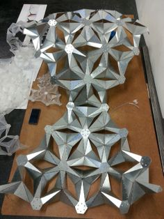 Sarah Shuttleworth's large metal origami model.