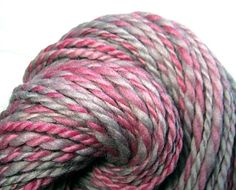 Handspun Yarn Two Ply Thick and Thin  Bulky by SheepingBeauty, $28.00