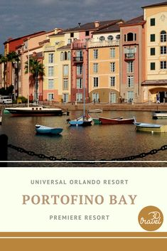 Portofino Bay is one of our favorites at Universal Orlando Resort! Orlando Resorts, Hotels And Resorts, Universal Orlando, Universal Studios, Vacation, Mansions, House Styles, Travel, Vacations
