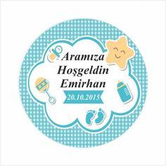 Aramıza Hoşgeldin Bebek Etiketi 24 Adet BB0058