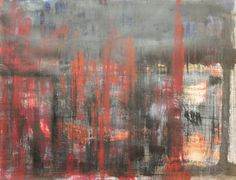 "Saatchi Online Artist Marina Dewit; Original Abstract painting ""dark night of the soul""  #marinadewit"