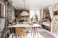 Una casa nórdica llena de objetos vintage | Bohemian and Chic
