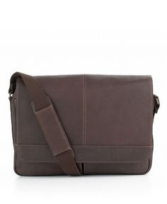 Kenneth Cole Reaction Columbia Leather Single Gusset Messenger Bag - Mens Men's Bags & Backpacks - Macy's