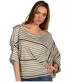 Vivienne Westwood Anglomania Short Sleeve Tiger Top Tan/Gray/Black - 6pm.com