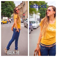 One simple outfit, for a school day maybe Simple Outfits, My Outfit, School, T Shirt, Tops, Women, Fashion, Supreme T Shirt, Moda