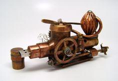 Steampunk  Transporteur aérien  lecteur flash. par slotzkin sur Etsy