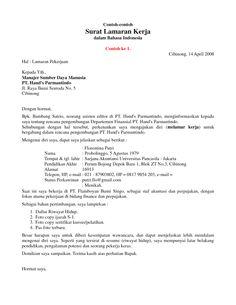 Surat Lamaran Telkomsel