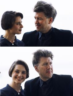 _A photo of Isabella Rossellini and David Lynch, 1990