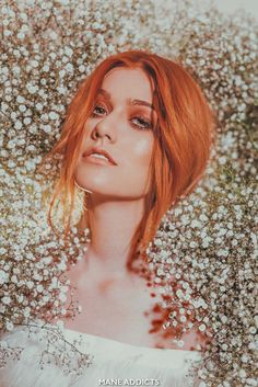 Kat McNamara by Chris Dylan and Mane Addicts Red Hair Flowers