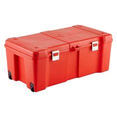 Red Storage Locker with Wheels