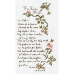 """The Lord's Prayer Counted Cross Stitch Kit-5-1/2""""X10"""" 14 Count - Overstock™ Shopping - Big Discounts on Janlynn Cross Stitch Kits"""