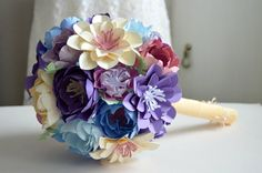 Bridal paper flower bouquet wedding bridal by Floweremotions2
