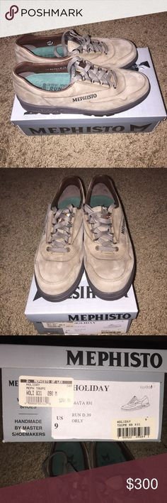 NWT Mephisto Holiday Maya 831 Walking Shoe   Rare Women's Mephisto Holiday Maya 831 Walking Shoe Handmade in Portugal.  These are Size 9 and are Taupe color.  These are brand new never worn and come with box.  Very rare and the highest end Walking shoe you can find. Mephisto Shoes Athletic Shoes