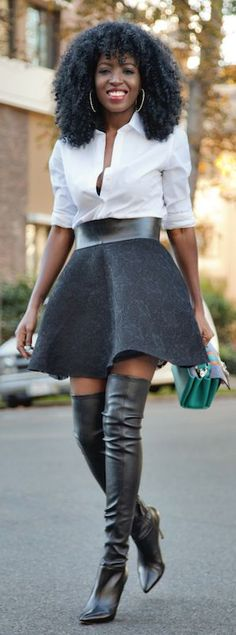 Black Soft Pleat Mini A-skirt by Style Pantry