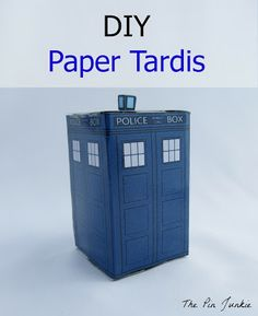 Printable TARDIS Doctor Who Paper Crafts