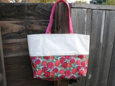 Joy Marie Accessories Large Canvas Tote in Sweet Summer Floral, $37.00