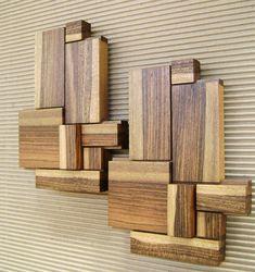 Wood wall art modern wood art wooden art wood by HechoEnCasaTaller Wood Wall Tiles, Wood Panel Walls, Wood Wall Decor, 3d Wanddekor, Into The Woods, Geometric Wall Art, Handmade Tiles, Wooden Wall Art, Wall Sculptures