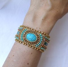 Beading Pattern Bracelet Bead Embroidery by RedTulipDesign on Etsy