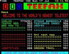 TeletextR: teletext TEEFAX, the Rasperrry pi Service Menu Screen by Ca...