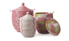 Organic Spa Magazine  Senegalese storage baskets handmade from recycled plastic and natural fiber