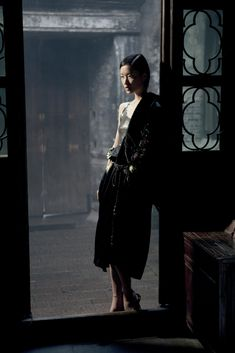"john galliano kimono with a krizia top.  model du juan photographed by wing shya for the editorial ""viaggio a xitang"" in flair italia, april 2011."