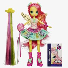 Fluttershy Rockin' Hair Rainbow Rocks Equestria Girls Doll