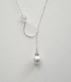 Great idea. Pearl Pendant Sterling Silver Necklace Lariat Necklace Swarovski…