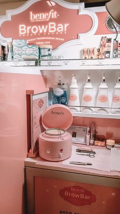 Benefit BrowBar Sensitive Wax at Sephora inside JcPenney Home Beauty Salon, Beauty Salon Decor, Beauty Salon Design, Beauty Bar, Wax Studio, Brow Studio, Benefit Brow Bar, Esthetics Room, Beauty Room Decor