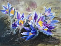 Pasqueflower (40x30 cm) Painting, Art, Craft Art, Paintings, Kunst, Gcse Art, Draw, Drawings, Art Education Resources