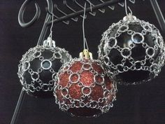 Chainmaille Ornament 1 by AmandaLynnChainmail on Etsy