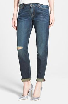 CJ by Cookie Johnson 'Powerful' Stretch Relaxed Boyfriend Jeans (Freda) available at #Nordstrom