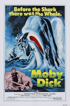 Moby Dick (1956). John Huston's 1956 Moby Dick remains admirably faithful to its source. Though slightly intimidated by the sermon delivered by Father Mapple (Orson Welles in a brilliant one-take cameo), who warns that those who challenge the sea are in danger of losing their souls, Ishmael nonetheless signs on to the Pequod, a whaling ship captained by the brooding, one-legged Ahab (Gregory Peck).
