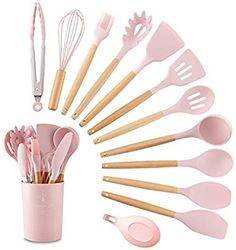 Silicone Kitchen Utensils, Cooking Utensils Set, Kitchen Utensil Set, Cute Kitchen, Cooking Tools, Dorm Kitchen, Kitchen Cookware Sets, Cool Kitchen Gadgets, Home Decor Accessories