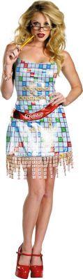 Adult Sassy Scrabble Costume Deluxe