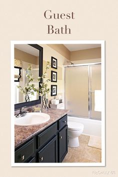 Huge double sink vanity with makeup table bath ideas pinterest home oakley and double sinks - Pleasant bathroom designs small bathroom radical change simple remodeling ...