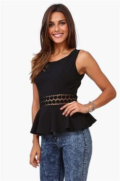 Peplum is cute! But not those jeans